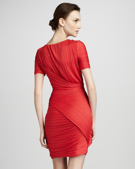 Cross-Ruch Dress