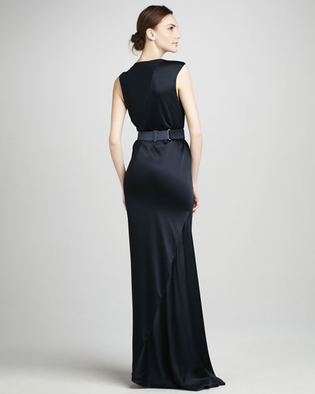Crepe & Satin Dress