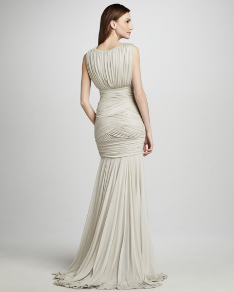 Ruched Woven Dress