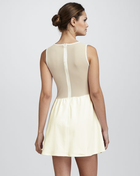Mesh-Inset Lulu Dress