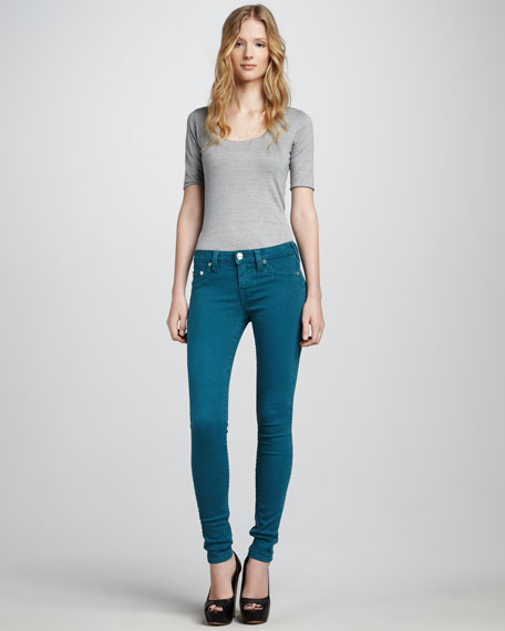 Halle QY Peacock Skinny Jeans
