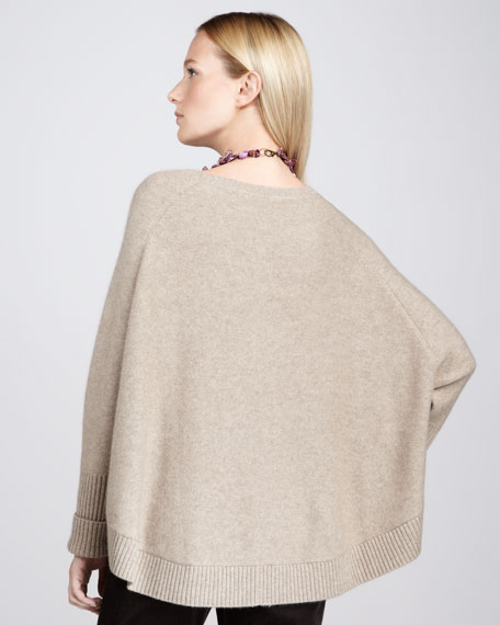 Cashmere Raglan-Sleeve Top