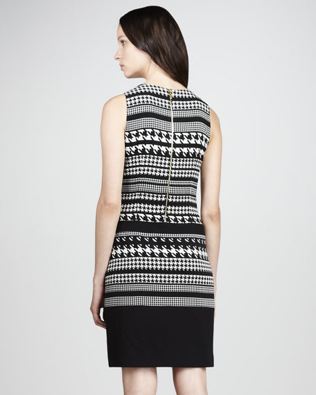 Houndstooth Jersey Dress