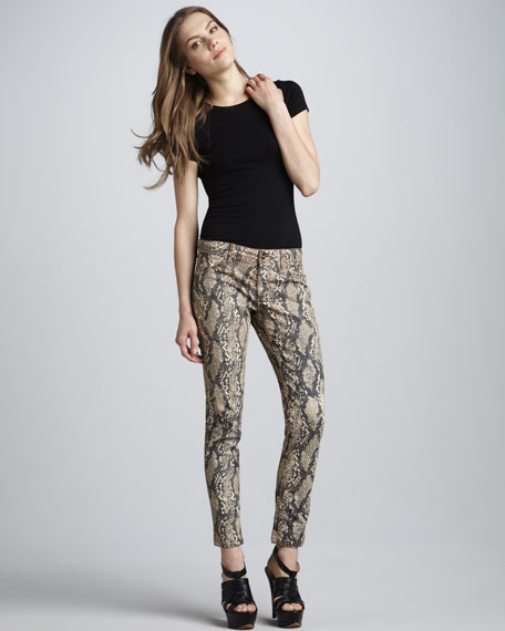 Emma Slither Snake-Print Leggings