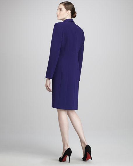 Peak-Lapel Jacket & Sheath Dress