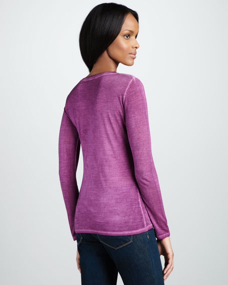 Long-Sleeve Silk Tee