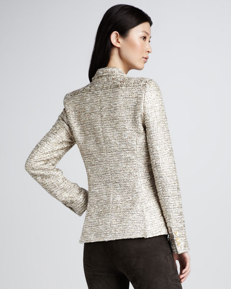 Elyse Metallic Tweed Blazer