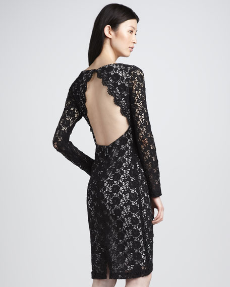 Dandi Open-Back Lace Dress
