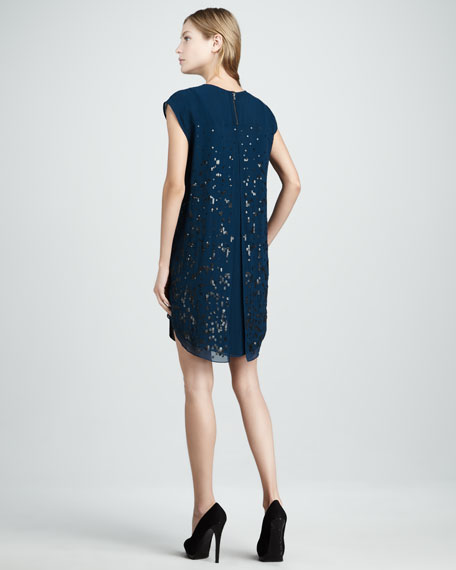 Loose Sequined Dress