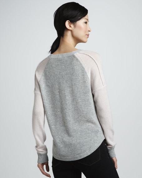 Cashmere Baseball Sweatshirt