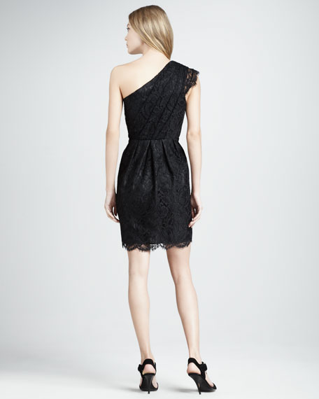 Mara One-Shoulder Lace Dress