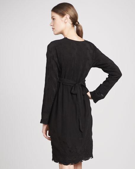 Scalloped Tie-Waist Dress