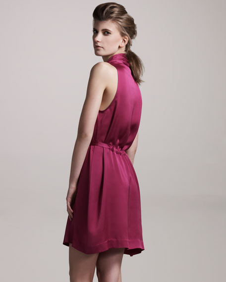 Silk Surplice Dress