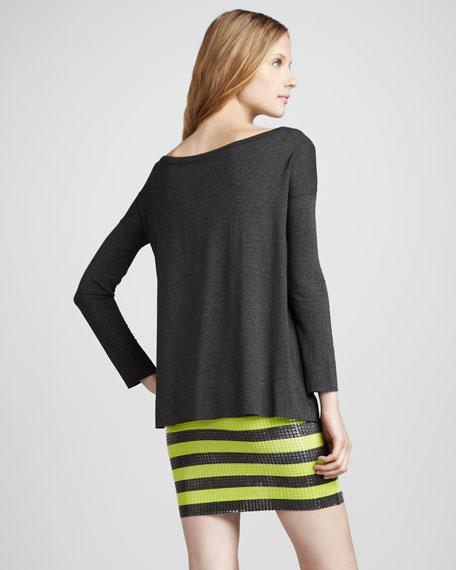 Sequin-Skirt Combo Dress