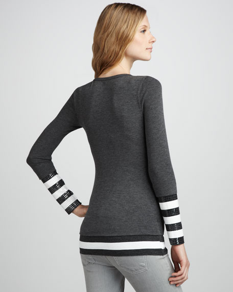 Two-Layer Jersey Top