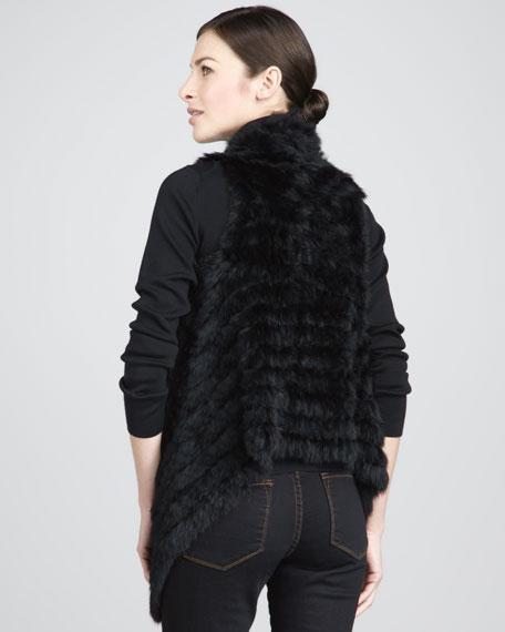 Fur Handkerchief-Hem Vest