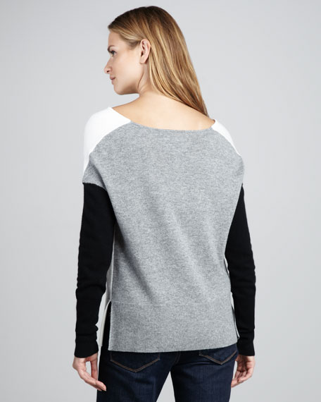 Colorblock Wool/Cashmere Sweater