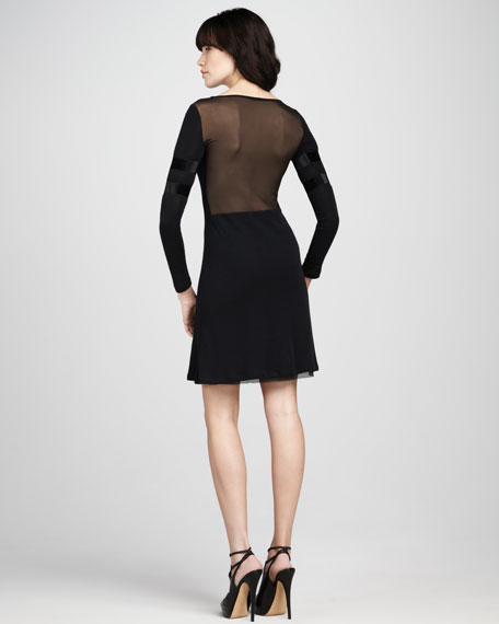 Sheer-Back Dress