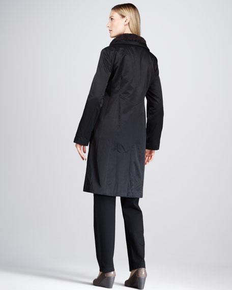 Faux-Fur-Trim Coat, Women's