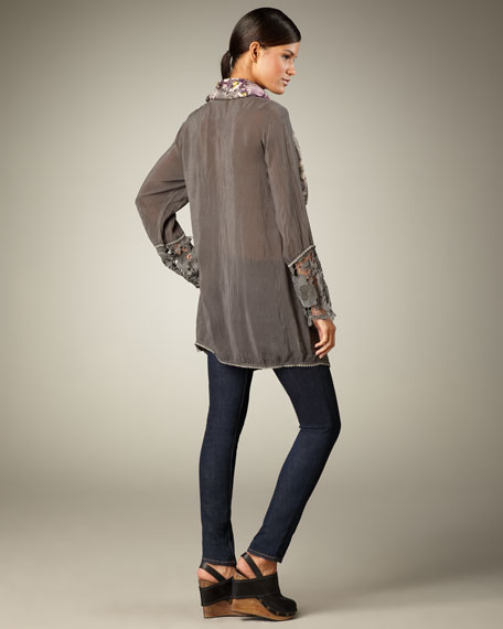 Embroidered Lace Tunic, Women's