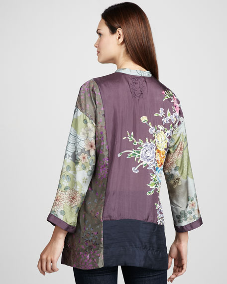 Patchwork-Print Blouse, Women's