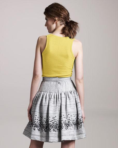 Beaded Tweed Skirt