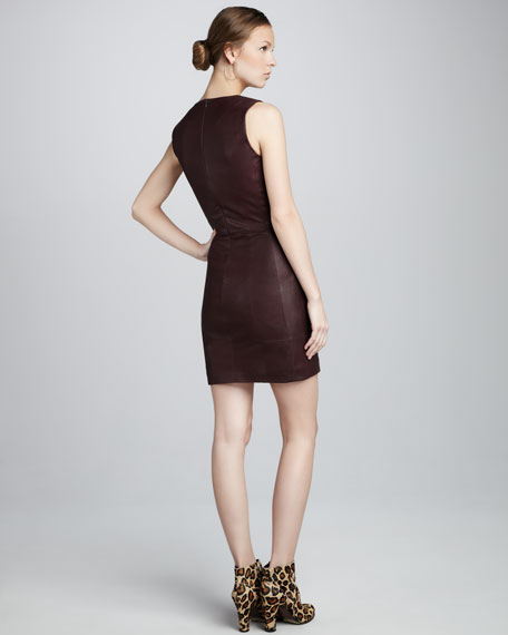Fitted Leather Dress