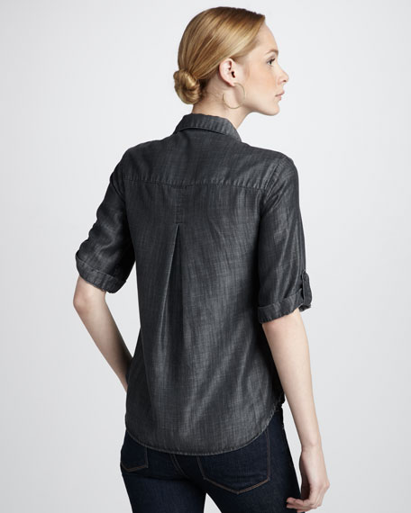 Shiny Chambray Shirt