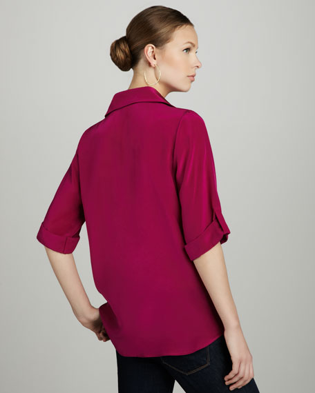 Slouch-Pocket Silk Tunic