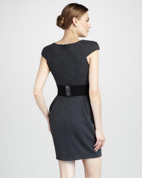 Scarlet Ponte Cap-Sleeve Dress