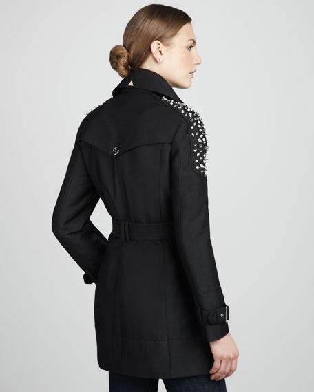 Studded Belted Trenchcoat