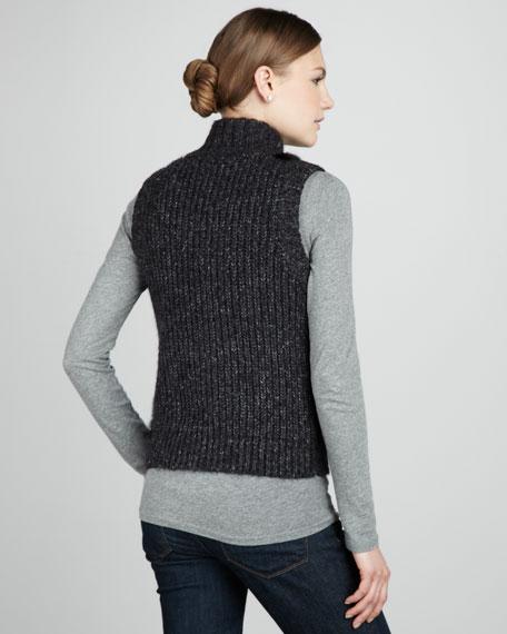 Knit & Fur Vest