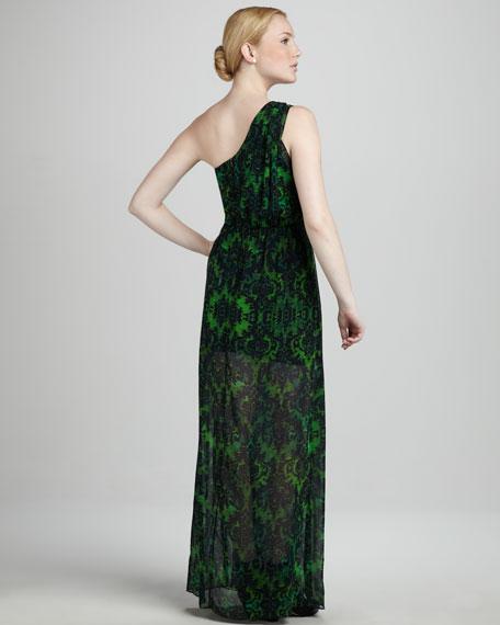 Gidget Baroque-Print Maxi Dress