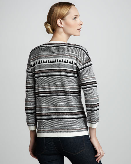 Patterned-Knit Sweater