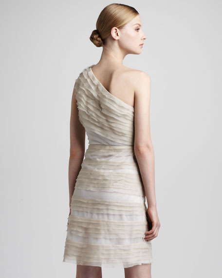 Linda Tiered Silk Dress