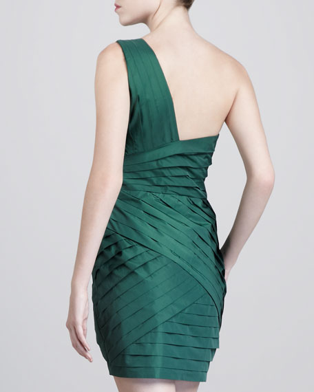 Kristin Pleated Silk Dress