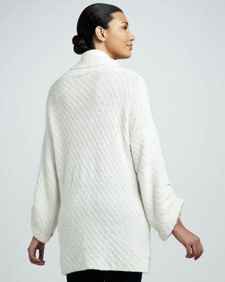Basket-Stitch Cowl-Knit Sweater