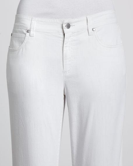 Wide-Leg Stretch Jeans