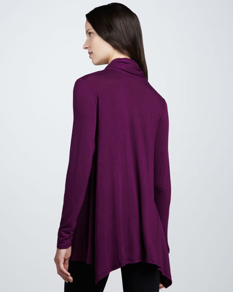 Long-Sleeve Zip Cardigan