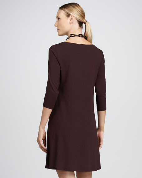 Cowl-Neck Dress, Petite