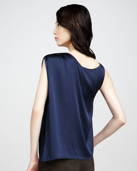 Asymmetric Silk Top