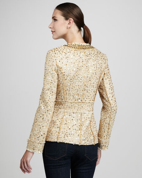 Sequined Tweed Jacket