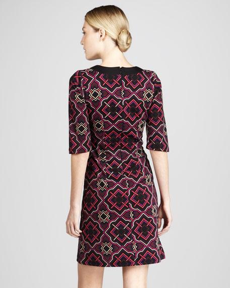 Tile Print Caftan Dress, Women's