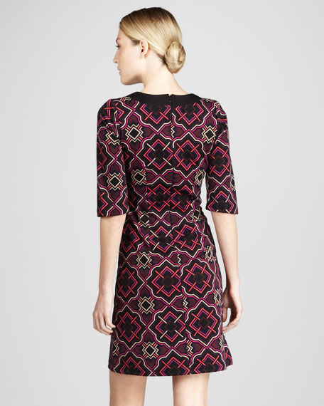 Tile Print Caftan Dress
