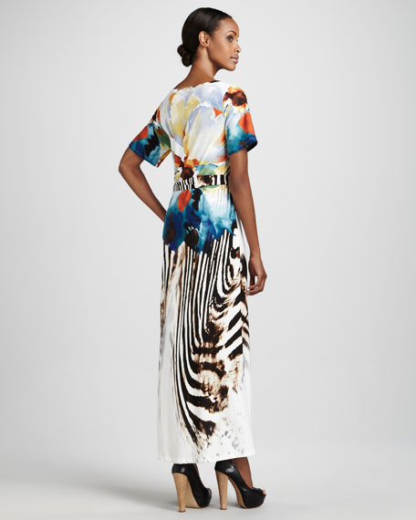Exotic-Printed Maxi Dress, Women's