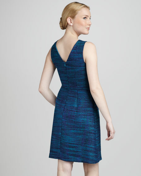 Zora Metallic Tweed Dress