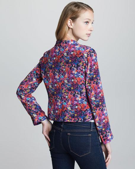 Sapphire Floral-Print Blazer