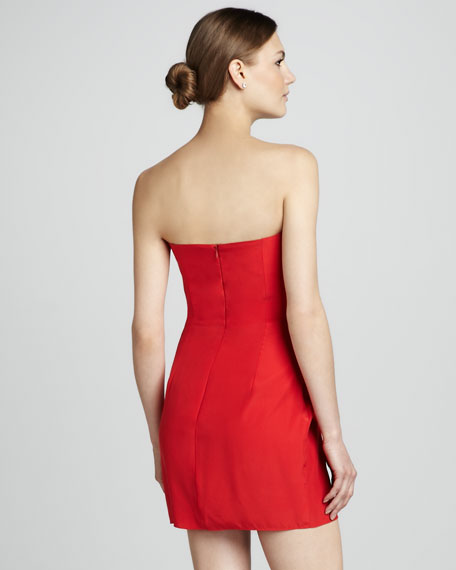 Strapless Gathered Dress