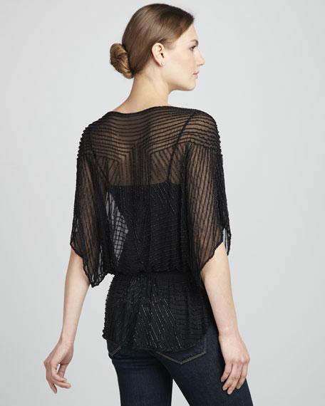 Short-Sleeve Beaded Tunic