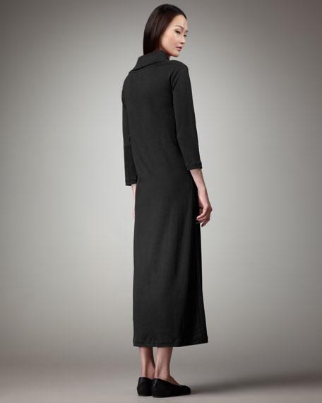 Women's Turtleneck Maxi Dress, Black
